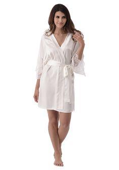 Silk women nightwear robes--Ivory robes #Silk #robes | Revesilk.com