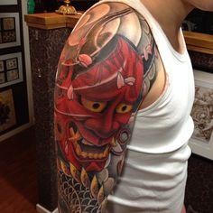 #anders#hannya#dragon#tattoo#holmsund#color
