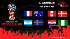 DÜNYA KUPASI 2018 - 3. GÜN MAÇLARI - FANTASY WORLD CUP 2018 RUSSIA