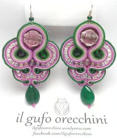 soutache earrings handmade