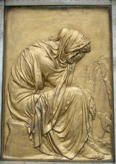 Paul Cabet : Tombeau de Martine Van der Haërt, cimetière du Montparnasse