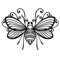 Cute bee tattoo idea