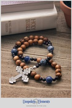 This Anglican rosary features olive wood from Bethlehem and sodalite gemstones with an antiqued silver cross. Anglican Prayer Beads are a wonderful focus tool for your daily prayer or meditation practice as well as the perfect baptism, confirmation or healing gift for a friend or family member. #pray #anglican #christian #prayerbeads Mind Over Body, Christian Prayers, Daily Prayer, Jasper Gemstone, Bethlehem, Prayer Beads, Confirmation, Thoughtful Gifts, Antique Silver