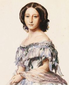 Princess Alice, the mother of Empress Alexandra Feodorovna, by Winterhalter. 1857.
