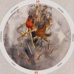 Ten of Swords - Circle of Life Tarot by Maria Distefano