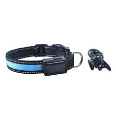 Lkous LED Dog Collar Solar Charging cat Collar USB Cable Rechargeable Dog Collar 4 Colors and 3 Sizes ** See this great image  : Cat Collar, Harness and Leash