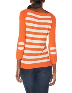 OBR Striped Back Elbow Patch Sweater | Women's Elbow Patch Sweater | THE LIMITED