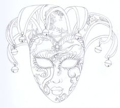 Image result for venetian masks drawings