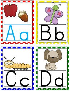 Free alphabet wall cards!