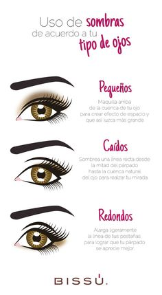 Beauty Hacks Every Girl Should Know : Identifica tu tipo de ojos para maquillart… Beauty hacks every girl should know: Identify your eye type to get the right make-up. Eye Makeup, Beauty Makeup Tips, Beauty Make Up, Beauty Secrets, Beauty Skin, Beauty Hacks, Diy Beauty, Beauty Products, Homemade Beauty