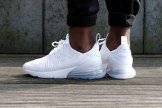 Women's Nike Air Max 270 Triple White Best White Sneakers, White Nike Shoes, White Nikes, White Tennis Shoes, Sneakers Mode, Sneakers Fashion, Fashion Shoes, Fashion Outfits, Nike Air Max Blanche