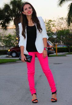 Zara in Blazer, Zara in Jeans, Zara in Heels / Wedges, Louvett in Watch, Aldo in Clutch, Pop of chic in Jewelry