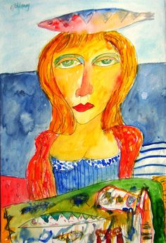 Woman with Fish by John Bellany