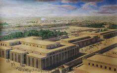 Reconstrucción ideal de la ciudad de Uruk.
