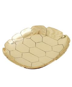 + Turtle Shell Brass Tray