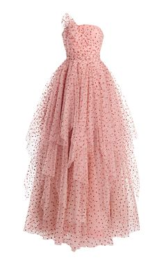 Polka-Dot Ruffled Tulle Dress by Jenny Packham Elegant Dresses, Pretty Dresses, Beautiful Dresses, Ball Dresses, Ball Gowns, Prom Dresses, Kpop Fashion Outfits, Fashion Dresses, Tulle Dress