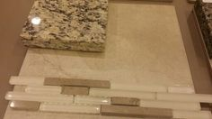 Kitchen granite and backsplash