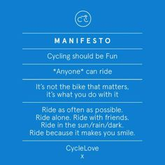 manifiesto bici lovers