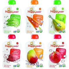 Happy Baby Organic Baby Food Stage 1 Starting Solids 5 Flavor Variety Pack (Pack of 10) -- Read more reviews of the product by visiting the link on the image.