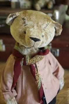 Купить Николай. - бежевый, тедди мишка, тедди медведи, теддик, игрушка в подарок, Плюшевый мишка