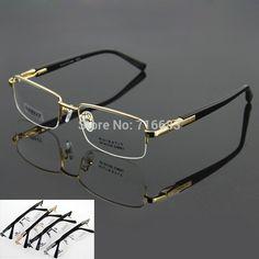 Trasporto libero di lusso 100% titanio puro ottica uomo silver grey gunmetal mezza senza orlo occhiali telaio occhiali rx 9910(China (Mainland))