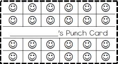 Classroom Behavior Ticket Template | also made elephant, cupcake, bee, and fish punch cards too!