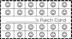1000 ideas about behavior punch cards on pinterest behavior cards behavior management and. Black Bedroom Furniture Sets. Home Design Ideas