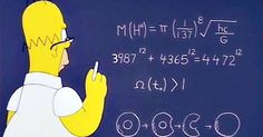 Home Simpson wrote an equation that nearly predicted the mass of the Higgs Boson…