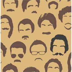 Distinctive Wallpaper Movember Moustache Chocolate and Beige Wallpaper Beige Wallpaper, Love Wallpaper, Designer Wallpaper, Pattern Wallpaper, Wallpaper Ideas, Mustache Wallpaper, Modern Barber Shop, Sticky Back Plastic, Movember