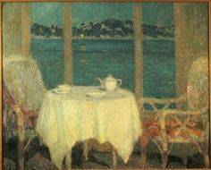 The Terrace in Front of the Bay of St. Tropez, 1929 Fine Art Print by Henri Eugene Augustin Le Sidaner