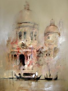 """""""Water color painting by Australian artist John Lovett"""" Watercolor Architecture, Art And Architecture, Watercolor Artists, Watercolor Paintings, Watercolor City, Watercolor Portraits, Watercolor Landscape, Abstract Paintings, Watercolours"""