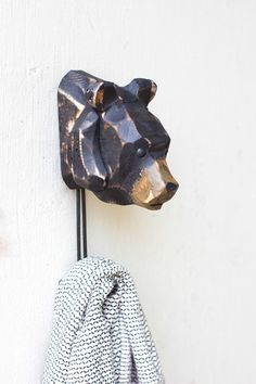 $24 carved wood bear wall hook