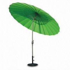 Trendy Green Garden Umbrellas