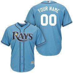 2c40620de3e Men Tampa Bay Rays Majestic Light Blue Cool Base Custom MLB Jersey