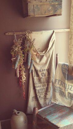 Old feed sacks