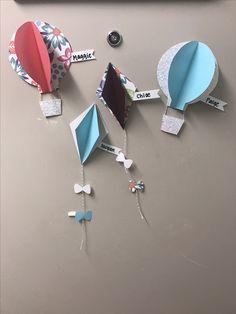 Door decs- kites and hot air balloons