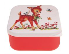 Lunchtrommel Bambi and Birds - Rood - Lighthouse Trading - Woonwebwinkel LiL.nl