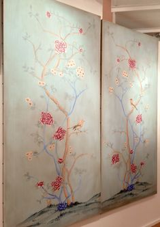 High Point Market Fall 2015 | Design Blogger's Tour | Part I - laurel home | gorgeous #chinoiserie wall panels from Wendover Art #hpmkt #designbloggerstour