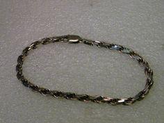 """Vintage Sterling Silver Heavy Twisted Link Men's/Unisex Bracelet, 8.5"""", Milor, Italy"""