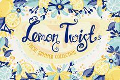 Lemon Twist by marushabelle on @creativemarket