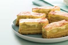 Use a clever shortcut to create these baked golden slices filled with warm apple, sour cream and cinnamon. Use a clever shortcut to create these baked golden slices filled with warm apple, sour cream and cinnamon. Apple Recipes, Sweet Recipes, Baking Recipes, Dessert Recipes, Baking Pies, Apple Desserts, Tea Recipes, Fruit Recipes, Seafood Recipes
