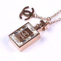 海外限定◆CHANEL シャネル◆ノベルティ香水瓶型ネックレス