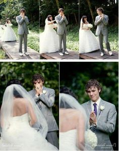 Groom's First Look at the Bride and Turns into Tears. This is so unbelievably sweet