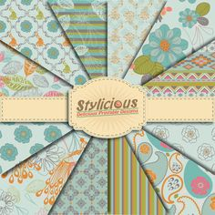 Hey, I found this really awesome Etsy listing at https://www.etsy.com/listing/223997068/flowers-pattern-digital-paper-pack