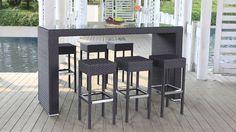 terraza mesa alta taburetes - Buscar con Google