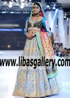 Awe-inspiring Dress with Lovely Lehenga Features Amazing Embellishments and Embroidery elegant Lehenga looks over the top in terms of luminous beauty. - See more at: www.libasgallery.com  .¸¸.•*¨*•xo, Princess♡•*¨*•.¸¸. #UK #USA #Canada #Australia #Saudi #Arabia #Bahrain #Kuwait #Norway #Sweden #NewZealand #Austria #Switzerland #Germany #Denmark #France #Ireland #Mauritius and #Netherlands  #bcw #PLBW2016 #bridalwear #desibride #pfdc #plbw16 #Nomiansari Collection 2017 brands Opulence from…