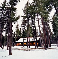 The Bunyan Bug cabin at the Resort at Paws Up, in Greenough, Montana. The cabins are all named after fly-fishing flies