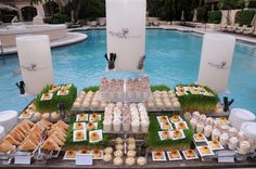 Turnberry Island Miami. Nice presentation of refreshments at the pool.