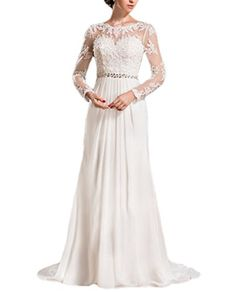4d2e19f51a1f7 Special Bridal ALine Scoop Neck Court Train Chiffon Lace Wedding Dress --  Want to know more