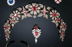 A diamond and ruby tiara necklace combination, previously auctioned by…